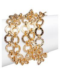 Trina Turk | Metallic Goldtone Multi-row Link Bracelet | Lyst