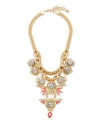Elizabeth Cole - Metallic Victoria Pyrite Statement Necklace - Lyst