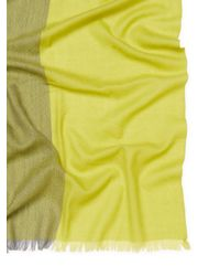 "Badgley Mischka - Multicolor Lightweight Colorblock Merino Wool Long Scarf, 82"" X 32"" - Lyst"