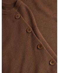 Tibi - Brown Ribbed Merino Wool Sweater - Lyst