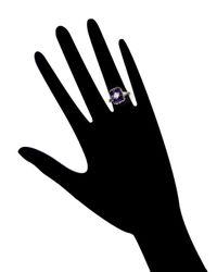 Estate Fine Jewelry - Multicolor Art Deco Amethyst & Diamond Cluster Ring - Lyst