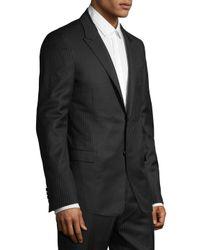 Lanvin - Black Pinstripe Suit Jacket for Men - Lyst
