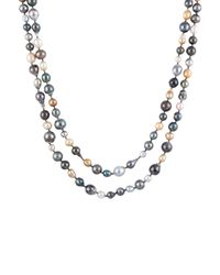 Masako Pearls - Metallic Tahitian & South Sea Pearl Necklace - Lyst