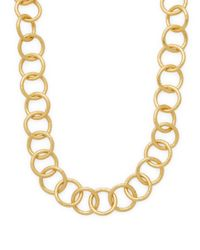 "Stephanie Kantis - Metallic Classic 24k Goldplated Chain Necklace/24"" - Lyst"
