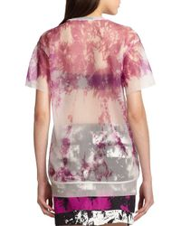 T By Alexander Wang - Purple Sheer Tie-dye Tee - Lyst