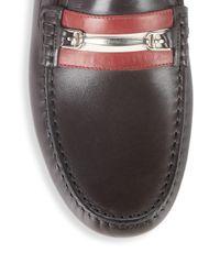 Bally - Brown Wert Leather Horsebit Drivers - Lyst