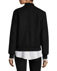 Givenchy - Multicolor Veste De Moto Crop Love Bomber Jacket - Lyst