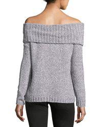 BB Dakota - Gray Bauer Off-the-shoulder Sweater - Lyst