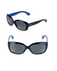 Ray-Ban - Blue 58mm Jackie Ohh Oversized Sunglasses - Lyst