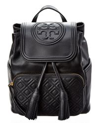 Tory Burch Black Fleming Leather Backpack