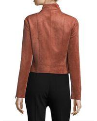 BCBGMAXAZRIA - Multicolor Faux Suede Moto Jacket - Lyst