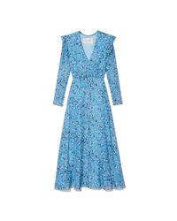 Carolina Herrera - Blue Floral Dress - Lyst