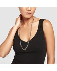 Hoorsenbuhs - Metallic Open-link Necklace With Classic Tri-links - Lyst