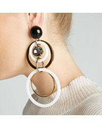 Marni | Multicolor Earrings Circles With Strass | Lyst