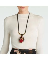 Marni - Black Necklace With Metal And Resin - Lyst