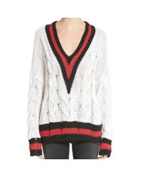 Rag & Bone | White Emma Ivory V-neck Pullover Sweater | Lyst