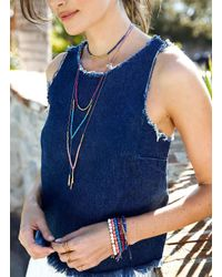 Gorjana & Griffin - Metallic Power Gemstone Lapis Necklace For Wisdom - Lyst