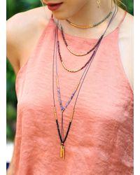 Gorjana & Griffin - Metallic Power Gemstone Rose Quartz Necklace For Love - Lyst