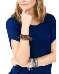 Gorjana & Griffin - Metallic Power Gemstone Aventurine Beaded Bracelet For Luck - Lyst