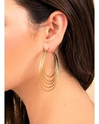 Gorjana & Griffin - Metallic Casey Profile Hoops - Lyst
