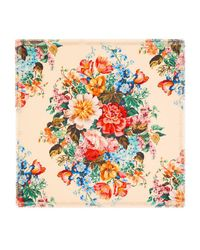 Gucci - Multicolor Floral Print Wool Silk Shawl - Lyst