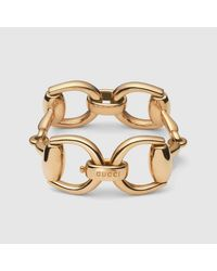 Gucci - Metallic Horsebit Bracelet - Lyst