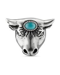 Gucci - Metallic Anger Forest Bull's Head Ring - Lyst