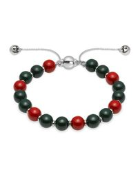 Gucci | Green Bracelet With Wooden Beads | Lyst