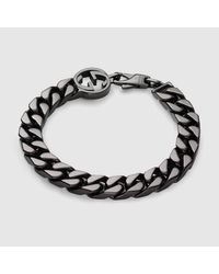 Gucci | Metallic Bracelet With Interlocking G for Men | Lyst