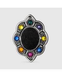 Gucci | Multicolor Ring With Velvet And Crystals | Lyst
