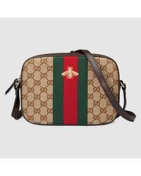 Lyst - Gucci Original GG Supreme Shoulder Bag in Brown 92a179cf446aa