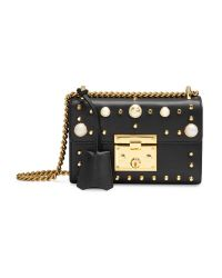 Gucci   Black Padlock Studded Leather Shoulder Bag   Lyst