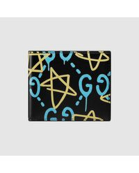 Gucci | Black Ghost Wallet for Men | Lyst