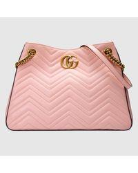15350f74235b Gucci GG Marmont Matelassé Leather Shoulder Bag - Lyst