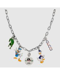 Gucci - Metallic Necklace In Silver With Charms - Lyst
