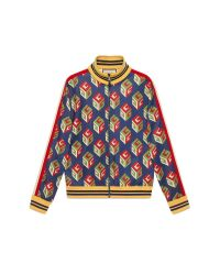 Gucci | Multicolor Gg Wallpaper Technical Jersey Jacket for Men | Lyst