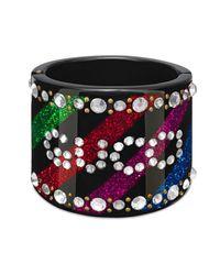 Gucci - Multicolor Crystal Cuff Bracelet - Lyst