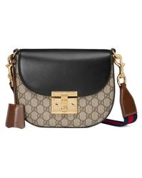 Gucci Padlock GG Supreme Canvas And Leather Shoulder Bag - Lyst b306b28f95828