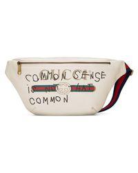 Gucci White Coco Capitán Logo Belt Bag