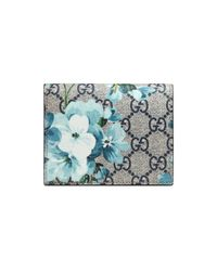 Gucci - Blue Gg Blooms Card Case - Lyst
