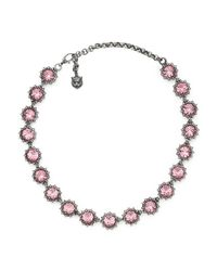 Gucci - Multicolor Necklace With Crystals - Lyst