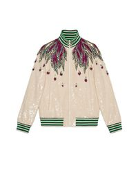 Gucci - White Embroidered Sequin Jacket - Lyst