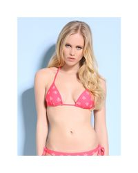 Guess | Red Hot Fun Padded Triangle Bra | Lyst