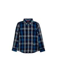 Guess | Blue Plaid Shirt (8-20) for Men | Lyst