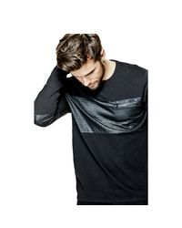 Guess | Black Mason Stream-jersey Long-sleeve Blocked Tee for Men | Lyst