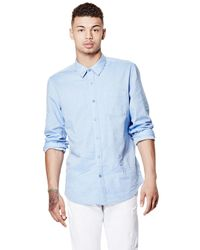 Guess | Blue Long-sleeve Shirt for Men | Lyst