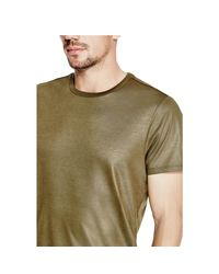 Guess - Green Mason Shine Floral-print Tee for Men - Lyst