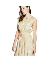 Guess | Natural Cargo Maxi Dress | Lyst