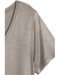 H&M - Gray Short-sleeved Top - Lyst