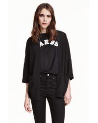 H&M | Black Wide Jacket | Lyst